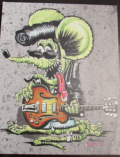 16x20 Rocker Rat CANVAS PRINT