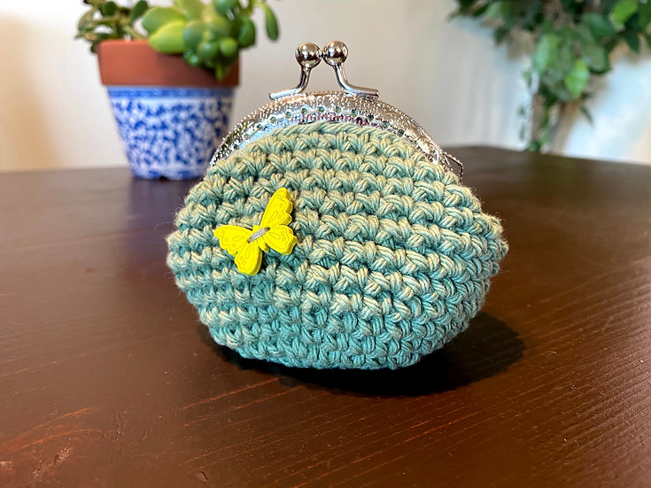 Coin Purse Sage Butterfly
