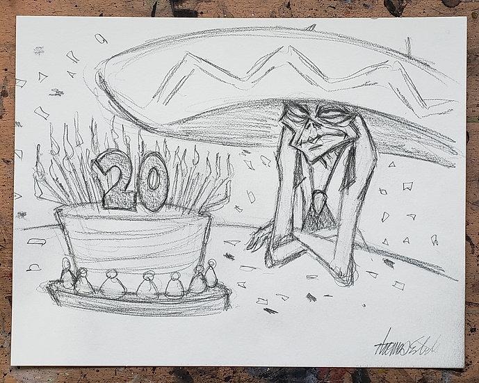 ORIGINAL 20th Anniversary 11x14 Sketch