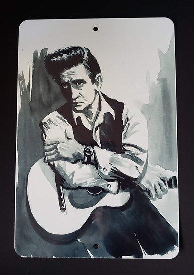 8x12 Aluminum Sign Johnny Cash