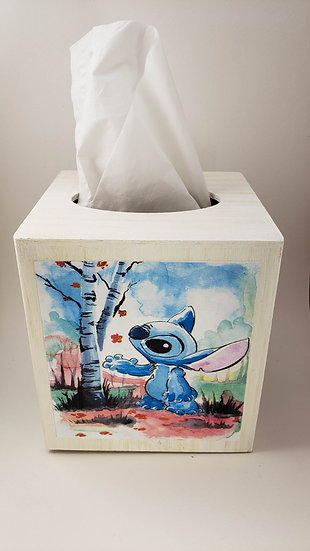 Stitch Wood Tissue Box Holder
