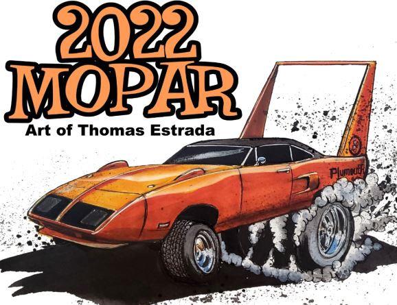 2022 MOPAR Hand Signed Calendar
