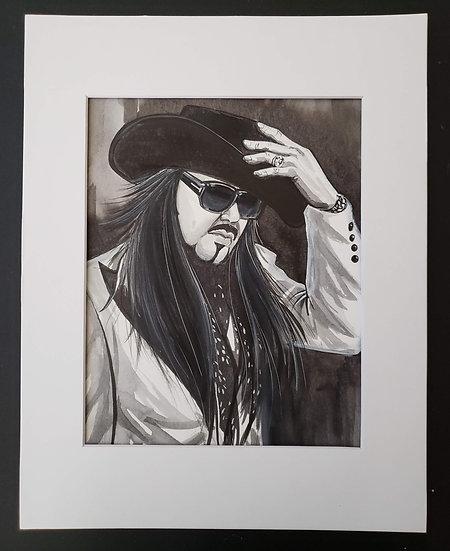 """EP in Hat"" 8x10 ORIGINAL Painting"