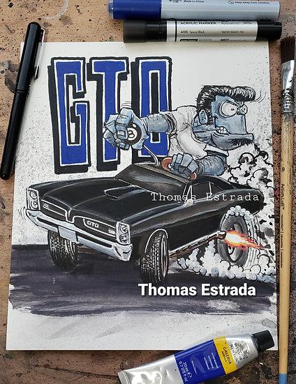 ORIGINAL GTO  8x10 Illustration