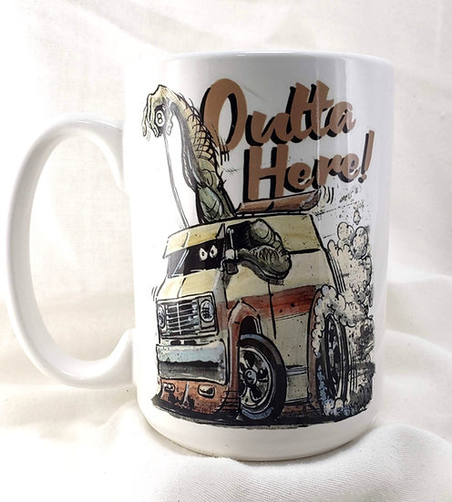 "LARGE 15oz. Mug ""Outta Here: Van"""