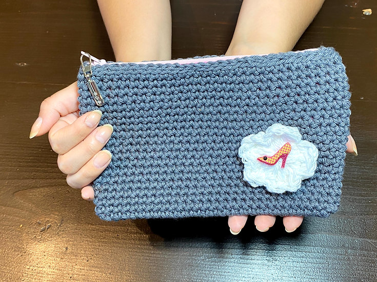 Makeup Pouch Pewter Heel