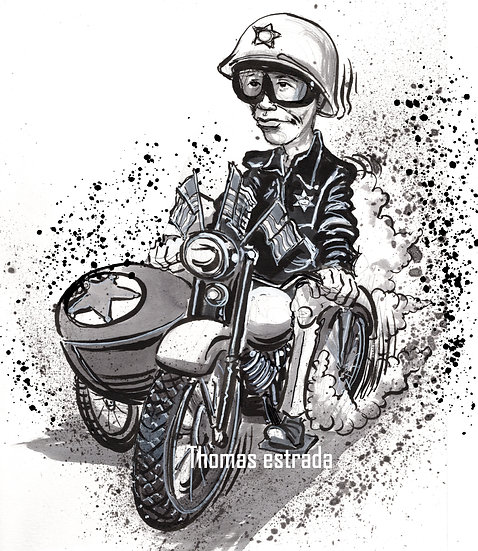"""Hand Signed Print """"Checkpoint Chickie"""""""