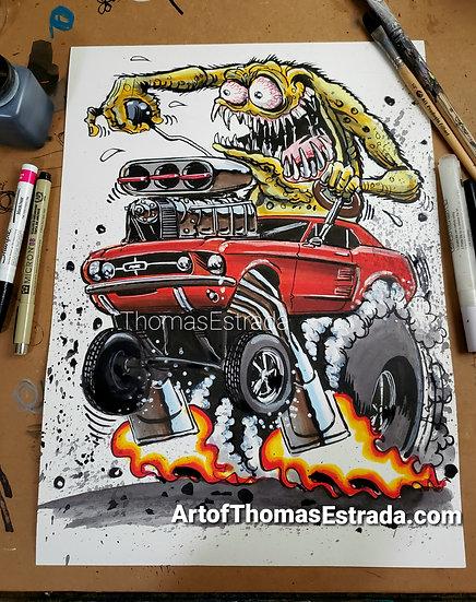 Monster Mustang Poster