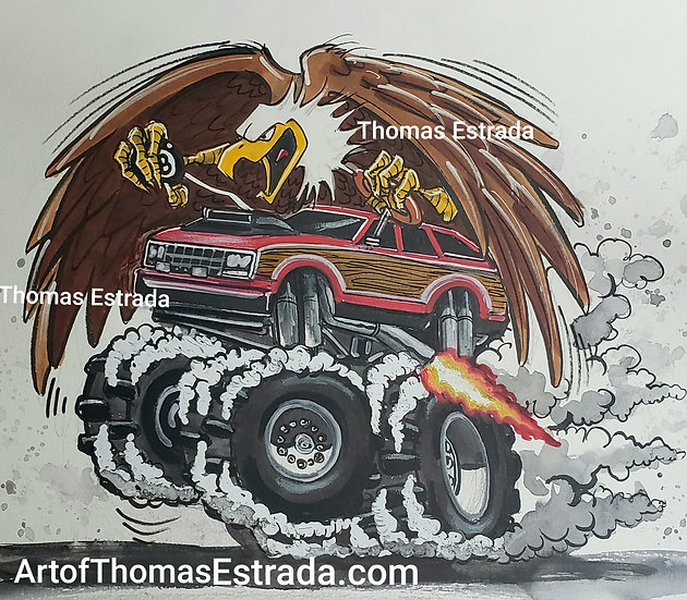 "ORIGINAL ""AMC Eagle"" 11x14 Illustration"