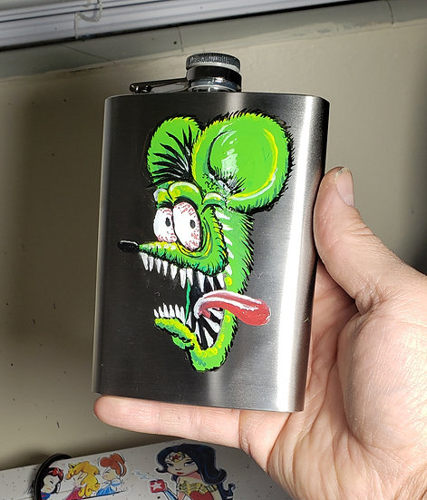 Hand Painted 8oz Flask