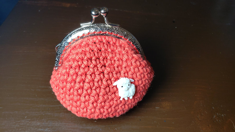 Coin Purse Red Lil Lamb