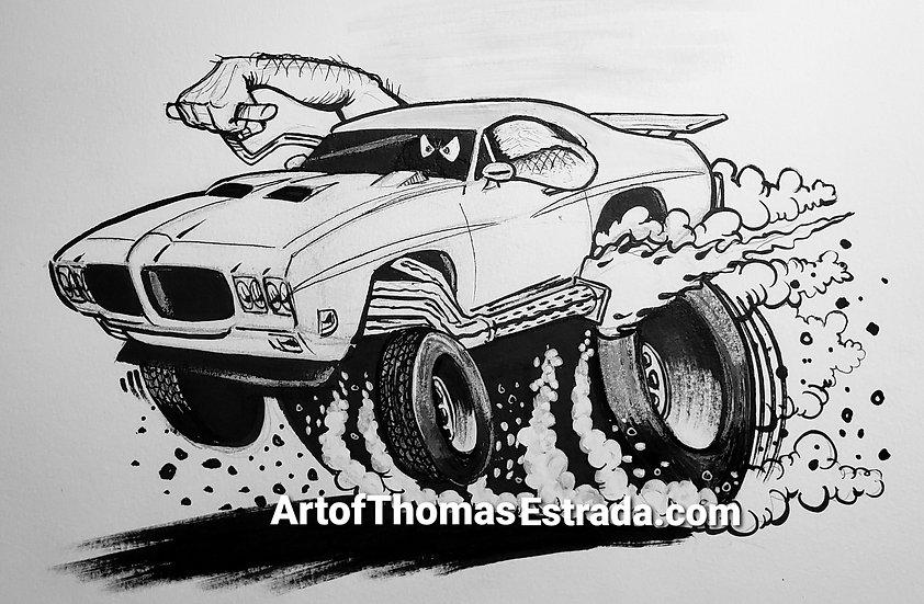 "ORIGINAL ""GTO JUDGE"" 11x14 Illustration."