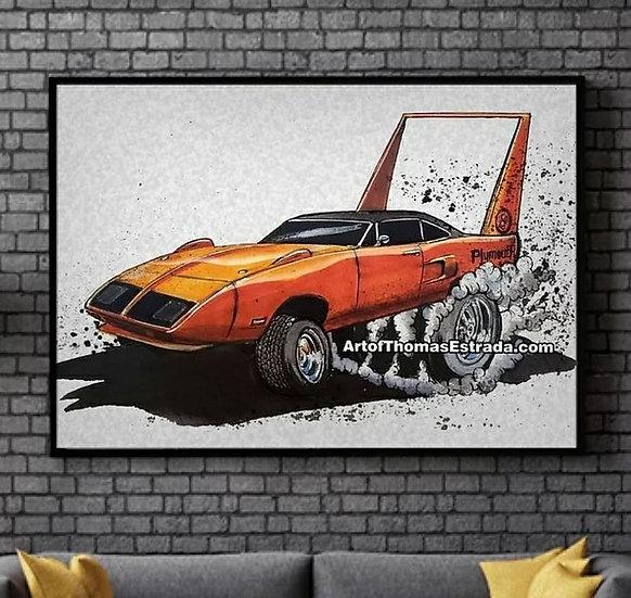 Orange Superbird Poster