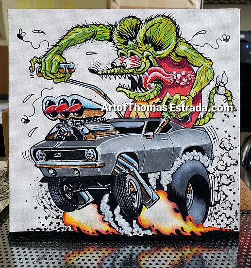 ORIGINAL Camaro 8x8 Acrylic on Canvas Board