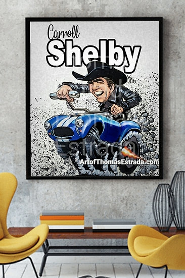 """OFFICIALLY LICENSED -LIMITED EDITION 16x20 """"Shelby Cobra""""  Canvas"""