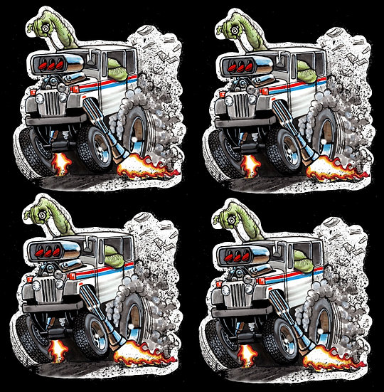 Mail Truck 4 Pack Decals