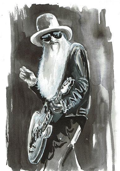 "ORIGINAL ""Billy Gibbons"" 8x10 Illustration"