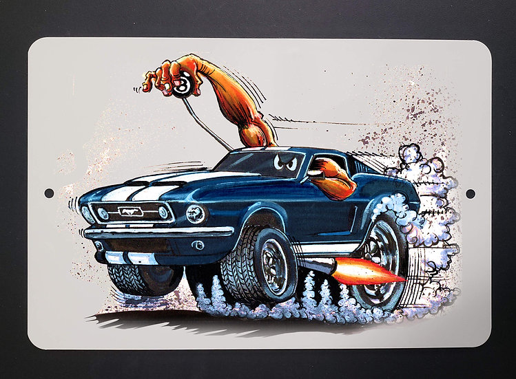 8x12 Aluminum Sign: Mustang