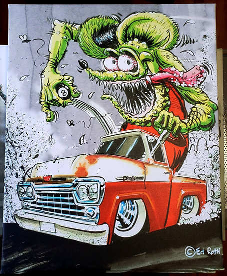 "16x20 ""Ford Pickup Fink""  Canvas Print"