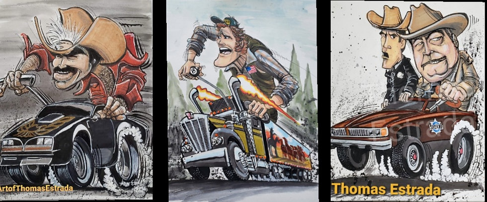 Smokey and the Bandit THREE Print Pack Bundle