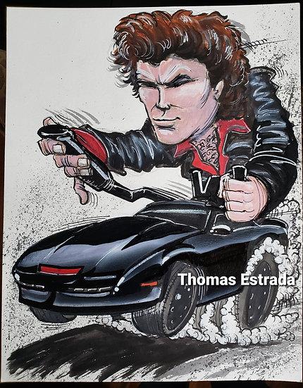 """Copy of ORIGINAL """"Knight Rider"""" 11x14 Illustration."""
