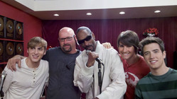 """With Snopp Dog on the set of """"Big Time Rush"""""""