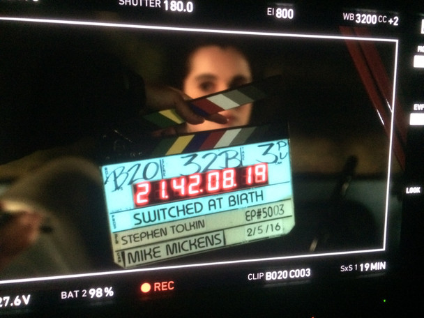 """Mickens finishes up episode of """"Switched at Birth"""" with director Stephen Tolkin"""