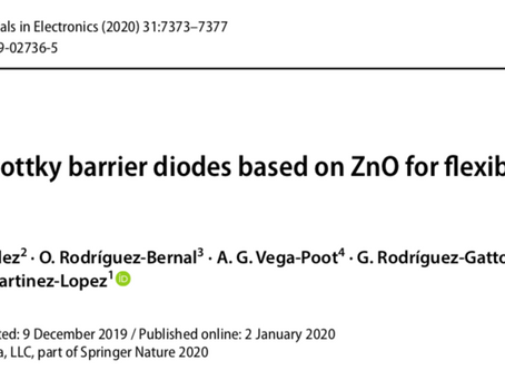 Artículo: Fabrication of Schottky barrier diodes based on ZnO for flexible electronics