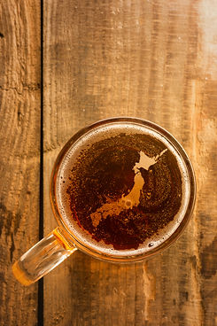 japanese-beer-concept-silhouette-on-foam