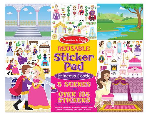 Reusable Sticker Pad: Princess Castle