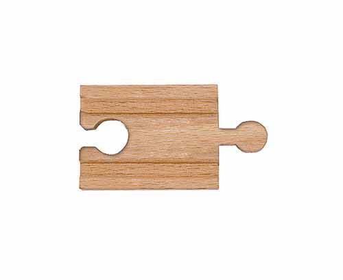 "2"" Wooden Straight Track: Male-Female"