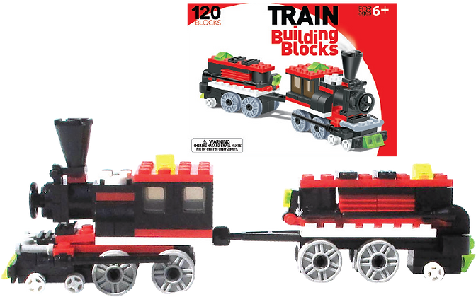 LEGO Compatible Train Building Set (120pc)