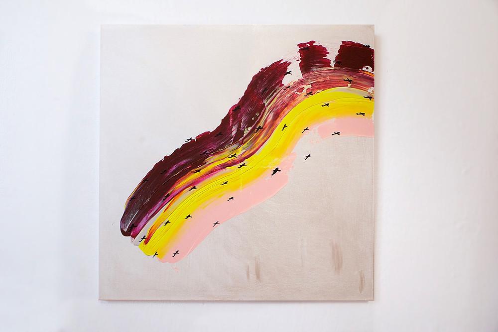Одна из работ, представленных на выставке в DME