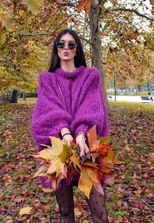 PUFFY mohair long sweater