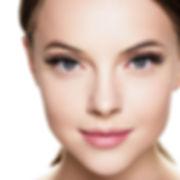 Eyelashes woman eyes face close up with