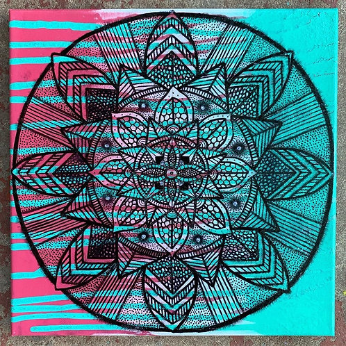 Third Eye Mandala-Pink/Blue