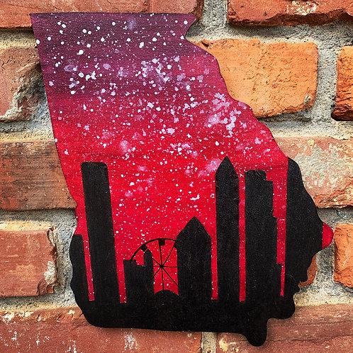 Red Atlanta Skyline