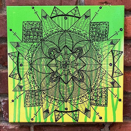 Green/Yellow Mandala