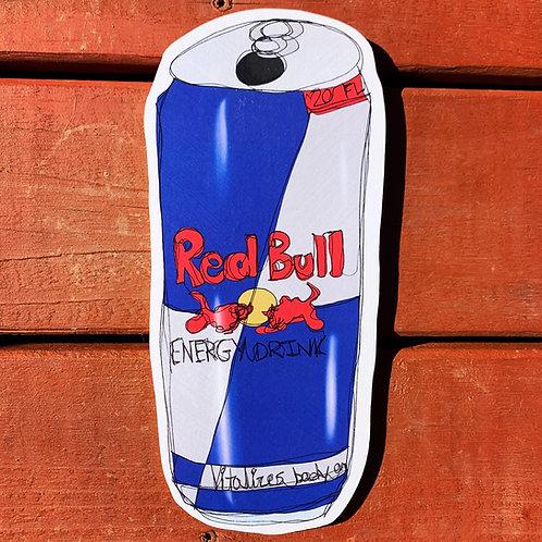 Red Bull Woodcut