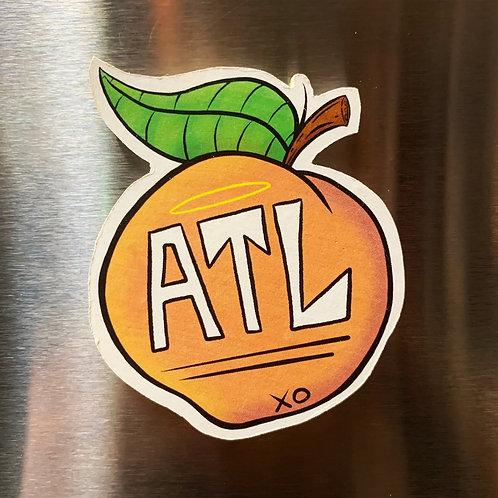 ATL Peach Magnet