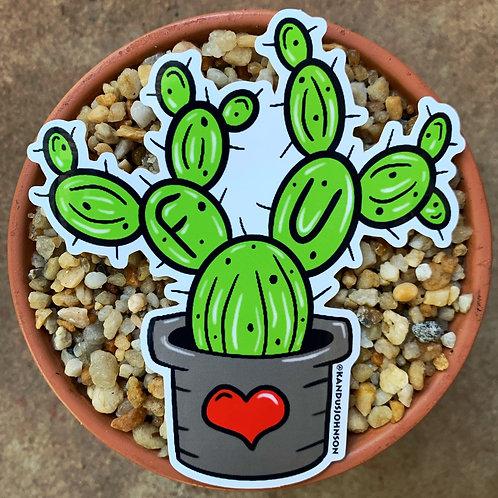 FU Cactus Sticker