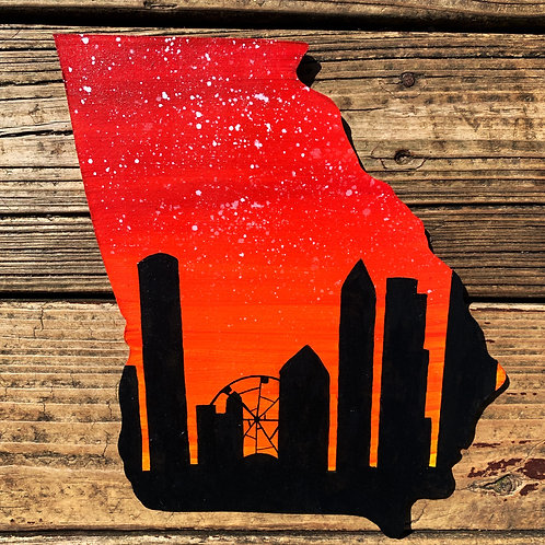 Atlanta Skyline Orange