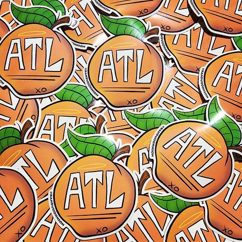 ATL Peach Sticker