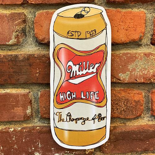 Miller High Life Woodcut