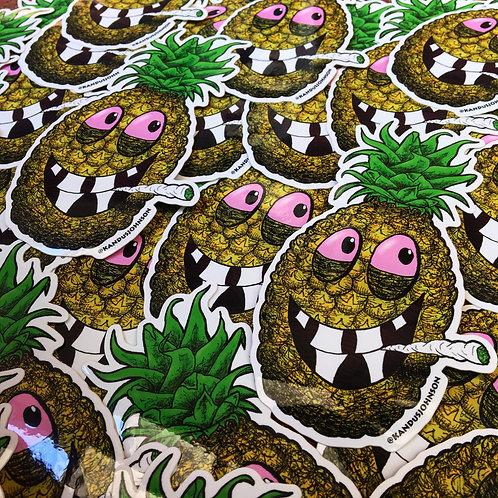 High Pineapple Sticker