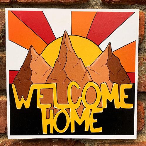 Welcome Home Woodcut