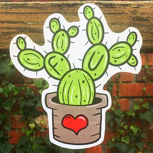 FU Cactus Woodcut