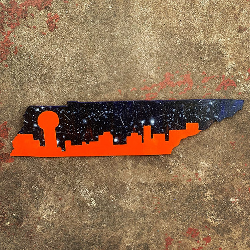 Knoxville Skyline Woodcut