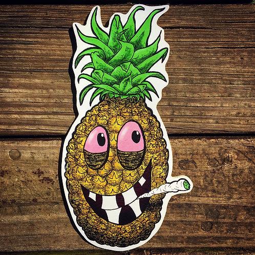 High Pineapple Woodcut