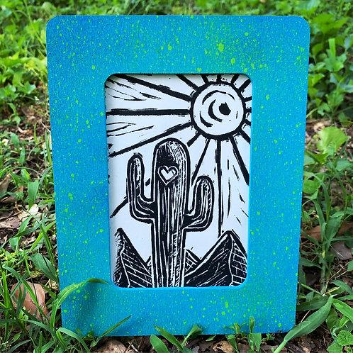 Sunny Cactus Framed
